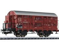 модель Liliput L235104 Вагон для перевозки скота, с тормозной будкой, тип V Altona. Принадлежность DRG. Эпоха II