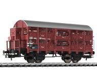 модель Liliput L235106 Вагон для перевозки скота,  с тормозной будкой, тип Vr. Принадлежность DB. Эпоха III
