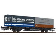 модель Liliput L235222 Платформа тип Lss-y 571 для перевозки контейнеров, с двумя контейнерами. Принадлежность  DB. Эпоха IV