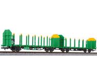 модель Liliput L235242 Сдвоенная платформа тип Laaps для перевозки бревен. Принадлежность  ÖBB. Эпоха V