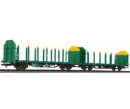 модель Liliput L235244 Сдвоенная платформа тип Laaps 565 для перевозки бревен. Принадлежность  VTG Deutschland. Эпоха VI