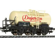 """модель Liliput L235497 Трёхосная цистерна """"Dujardin"""" с тормозной площадкой. Принадлежность DB. Эпоха III"""