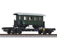 модель Liliput L235786 Платформа с установленным на нее узкоколейным вагоном (масштаба H0e).  Принадлежность  ÖBB. Эпоха IV