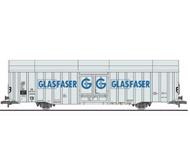 """модель Liliput L235801 Товарный вагон тип Hbbks. Принадлежность  DB """"GLASFASER"""". Эпоха III"""