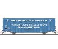 """модель Liliput L235813 Товарный вагон тип  Hbbks. Принадлежность  DB, """"Reinhold & Mahla"""". Эпоха IV"""