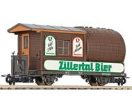 модель Liliput L240001 Вагон «бочка», эпоха V–VI, принадлежность Zillertal Bahn. Длина по буферам 96мм
