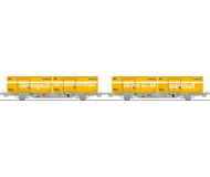 модель Liliput L240038 Набор №4 из двух платформ с контейнерами Schweizer Post. Принадлежность Частная жд. Эпоха V