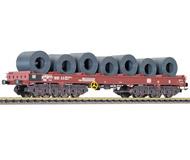 модель Liliput L265760 Платформа с грузом стали в рулонах. Принадлежность DB, эпоха IV-V