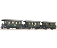 """модель Liliput L340500 Набор из трех пассажирских вагонов  """"Öchsle"""", Принадлежность Öchslebahn, эпоха VI"""