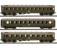 модель Liliput L350022 Набор из 3х вагонов:1 класс AB 4u-28, 2 класс C4u-38, 2 класс C4u-28. Принадлежность DR. Эпоха IV