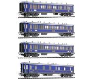 модель Liliput L350115 Набор из 4 вагонов поезда Gotthardbahn: вагон 1 класса, тип A4u, два вагона 2 класса, тип B4u и спец. вагона,тип F4u. Принадлежность SBB. Эпоха I