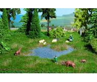 модель Noch 07440 Имитатор заболоченной местности с озером, 22 х 20 см + 10 пучков травы.