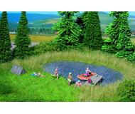 модель Noch 07442 Имитатор лесной поляны с озером, 22 х 20 см, 10 пучков травы.