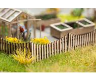 модель Noch 14230 Деревянный забор, длина 42 см, высота 1,5 см. Материал - тонкая фанера (т.н. laser-cut).
