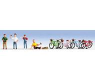 модель Noch 15896 Фигурки велотуристов с велосипедами 4 х 4 шт.