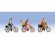 """модель Noch 15898 Фигурки """"Прогулка на велосипедах"""" люди 5 шт, велосипеды 3 шт."""