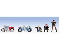 модель Noch 15900 Фигурки мотоциклистов 3 шт и мотоциклы 2 шт.