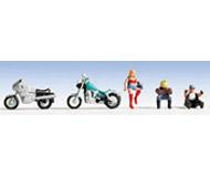 модель Noch 15901 Фигурки мотоциклистов 3 шт и мотоциклы 2 шт.