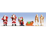 "модель Noch 15920 Фигурки людей ""Санта Клаусы"" 5 шт + аксессуары"