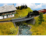 модель Noch 21350 Мост, длина 18 см, радиус 360 мм.
