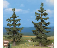 модель Noch 21820 Ели 2 шт, высота 11 и 12.5 см, цвет темно-зеленый.
