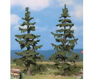 модель Noch 21821 Ели 2 шт, высота 13 и 14.5 см, цвет темно-зеленый.