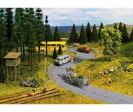 """модель Noch 60470 Имитатор дорожного покрытия """"шоссе"""", цвет серый 2 шт, ширина 58 мм, длина 1 м."""