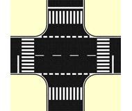 модель Noch 60712 Перекресток, цвет черный 22 х 22 см.