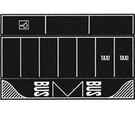 """модель Noch 60718 Парковка """"асфальт"""" 2 шт, 22-14 см."""
