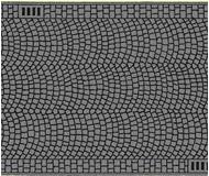 """модель Noch 60722 Имитатор дорожного покрытия  """"булыжная мостовая"""", 1 шт, ширина 66 мм, длина 1 м."""