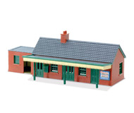 модель Peco LK-12 Country Station Building, brick type.