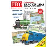 """модель Peco PM-202 Книга """"Track Plans for Layouts to Suit all Locations"""". Сборник планов макетов. Как и отправная точка для большинства проектов модельных железных дорог, трекпланы сами по себе являются захватывающим аспектом хобби. В течение многих лет они были популярной темой в журнале Railway Modeller и представлены здесь впервые в одном удобном томе. 64 страницы. На английском языке."""