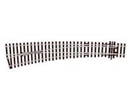 модель Peco SL-E87 Стрелка радиусная левая, радиус 1524/762 мм, длинна 256мм. Тип Electrofrog. Высота рельса 2,5 мм (код 100).