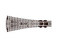 модель Peco SL-E99 Стрелка тройная, радиус 610мм 12°, длинна 220мм. Тип Electrofrog. Высота рельса 2,5 мм (код 100).