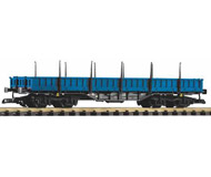 модель Piko 37763 Press V Low-Side Gondola w/Stakes Res, Blue