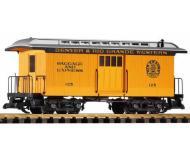модель Piko 38603 D&RGW Wood Baggage Car 125, Yellow