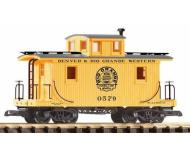 модель Piko 38833 D&RGW Wood Caboose 0579, Yellow