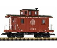 модель Piko 38852 D&RGW Wood Caboose 0575, Oxide Red