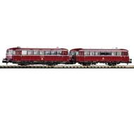 модель Piko 40250 BR 798 Diesel Railcar + BR998.6 Trailer. Принадлежность DB, Германия. Эпоха IV