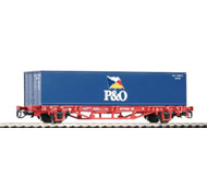 модель Piko 47700  Платформа с контейнером P&O, тип Lgs 579. Принадлежность DB AG. Эпоха V