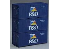 """модель Piko 56200 Контейнеры (20 фут) """"P&O"""" (набор из 3 шт), проф.серия"""