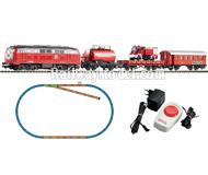 """модель Piko 57153 Стартовый набор """"Пожарный поезд"""", аналоговый. Серия Хобби."""