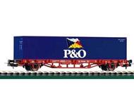 модель Piko 57706 Платформа Lgs579 с контейнером P&O. Принадлежность DB, Германия. Эпоха V. Серия Хобби.