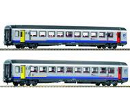 модель Piko 58638 Набор пассажирских вагонов Corail 1 и 2 класса. Принадлежность Bourgogne. Эпоха  VI. Серия Эксперт.