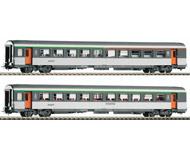 модель Piko 58645 Два пассажирских вагона 1 и 2 класса Corail. Принадлежность SNCF, Франция. Эпоха VI. Серия Эксперт.