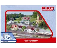 """модель Piko 61925 Набор строений """"Загородные постройки"""" 5 в 1"""
