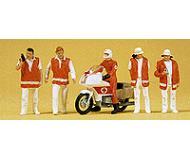 модель Preiser 10100 Спасательная служба с мотоциклом, 5 шт.