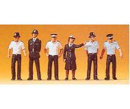 модель Preiser 10371 Полицейские, Великобритания, 6 шт.
