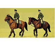 модель Preiser 10390 Конные полицейские Германии, 2 фигуры.