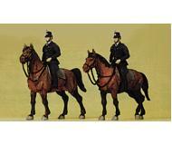 модель Preiser 10399 Конные полицейские Германии 1960 г., 2 фигуры.
